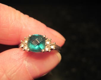 Tourmaline Ring with Topaz - Maker Marked
