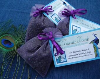 Lavender Cucumber Sage Scented Aroma Bead Sachet