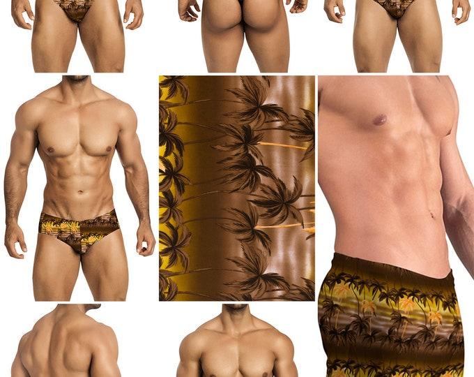 Tropical Palms in 7 Styles - Thong-Bikini-Briefs-Squarecut-Boxer-Board - 227