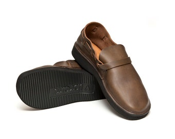 Men's OLIVE Handmade Leather Shoes