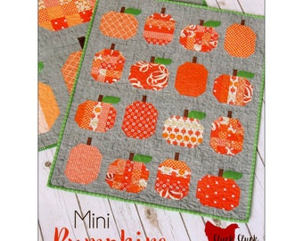 """Pattern """"Mini Pumpkins Quilt"""" by Cluck Cluck Sew #174 Sewing Card Pattern"""