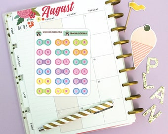 18 Contact Lense Mini Stickers / Planner Stickers