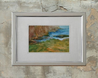 Sea painting, Watercolor painting, fine art, home decor, Beach art, Beach painting, Seascape wall art original painting, Seaside painting