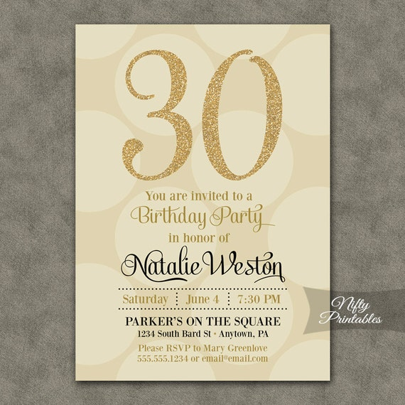 30th birthday invitations cream gold thirtieth birthday 30th birthday invitations cream gold thirtieth birthday invites gold glitter and off white thirty birthday printables 30 year chd filmwisefo Gallery