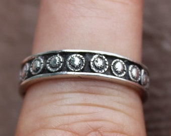 Petite Sterling Silver Sculpted Dot Ring Ring Size 7