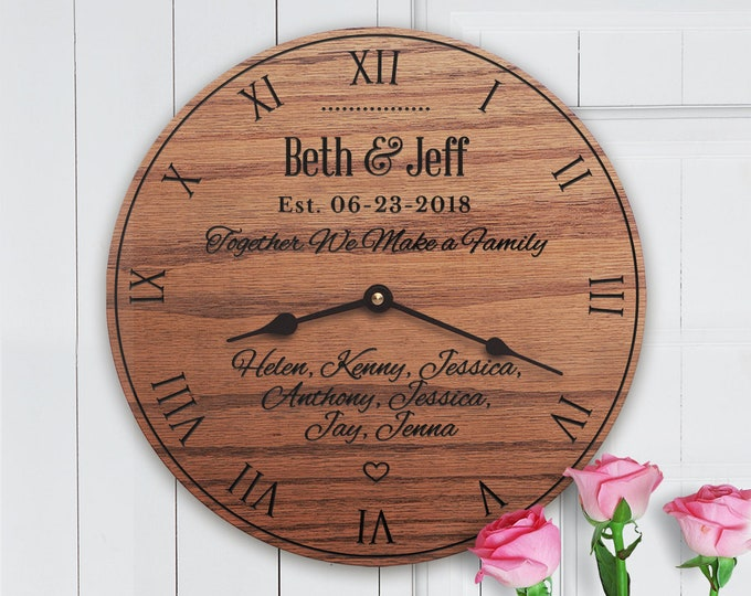 Together We Make a Family - Blended Family Gift - Non-Traditional Family - Remarriage - Custom Names - Family Names - No Last Name