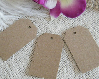 DIY Gift Tags / Hang Tags / Price tags / SMALL Tags / 100 Blank Kraft Cardstock Favor Gift tags / Natural Rustic Wedding Wish Tree Tags