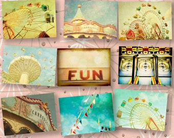 Carnival photography, circus art, print collection, county fair, fine art photography, nursery wall art, new baby -  9 5x7 prints