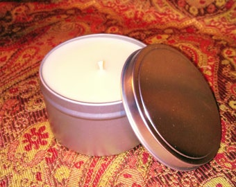 Luxurious Soy Candle in 8 oz travel tin