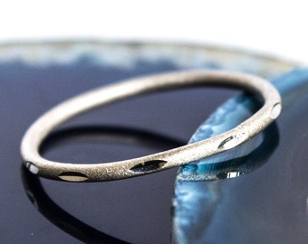 Diamond Cut Sterling Silver Stacking Band