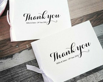Wedding Thank you Cards - Bulk Listing - Thank you cards - personalised thank you cards. Metallic foiled cards