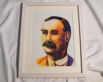 James Connolly - Framed and Signed Print by Emily M