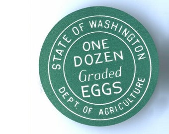 2 Vintage Egg Grading Labels from Washington State