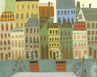 Arriving in Stockholm. Limited edition print by Matte Stephens.