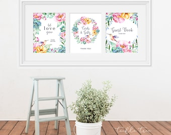 Reception Signs/Various - Hummingbird Garden