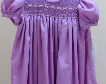 Girls Dress,  Hand Smocked and Embroidered Dress, Toddler Dress