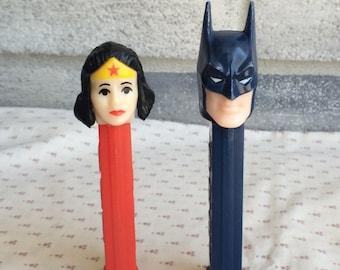 Batman and Wonderwoman pez, Batman Pez, Wonderwoman pez, Pez dispenser