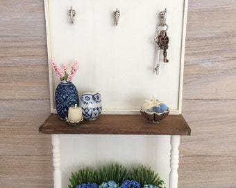 Miniature Hall Tree, Entryway Table, Foyer Table, Console Table, Miniature  Furniture,