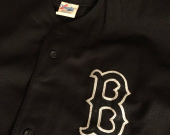 Vintage 90s Boston Red Sox Jersey Majestic L made in USA