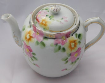 Vintage Hand-Painted Porcelain Teapot Made in Japan