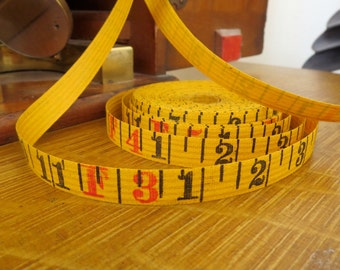 4 yards vintage tape measure 4 yards measuring tape Antique tape measure 4 yards of old tape measure Vintage number tape Old tape measure MT
