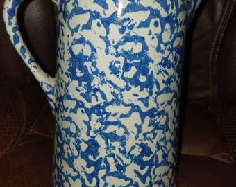 Vintage Stoneware Splatterware Pitcher