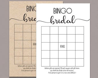 Nerdy image with printable bridal bingo