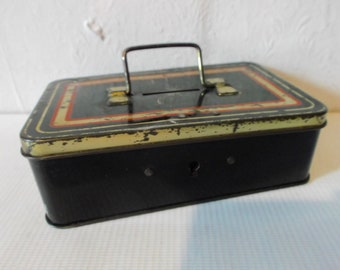 Vintage Tin Money Box Vintage Safe Box With Handle