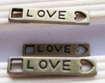 Lot 2 love connectors bronze