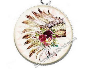Ethnic Dreamcatcher av33 flowers resin pendant cabochon