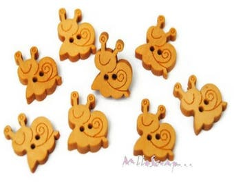 Set of 10 buttons snails scrapbooking card making embellishment *.