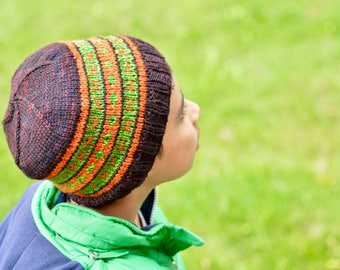 Instant Download - Pyramid Beanie w/o earflaps - PATTERN ONLY