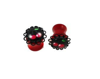 12 mm - Pin plug'up Rockabilly cherry rock