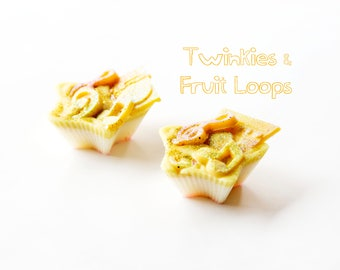 Twinkies & Fruit Loops Wax Melts (4.2 Oz) - Hand Poured Wax Melts - Handmade Wax Melts - Scented Wax - Twinkies - Fruit Loops - Scents - Wax