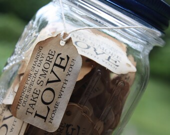 """Take S'More With You 100 SMALL 2"""" Favor Tag"""