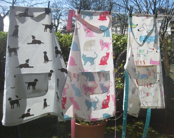 Apron, Baking apron, Dog Lover Apron, Cooking apron, Overall.