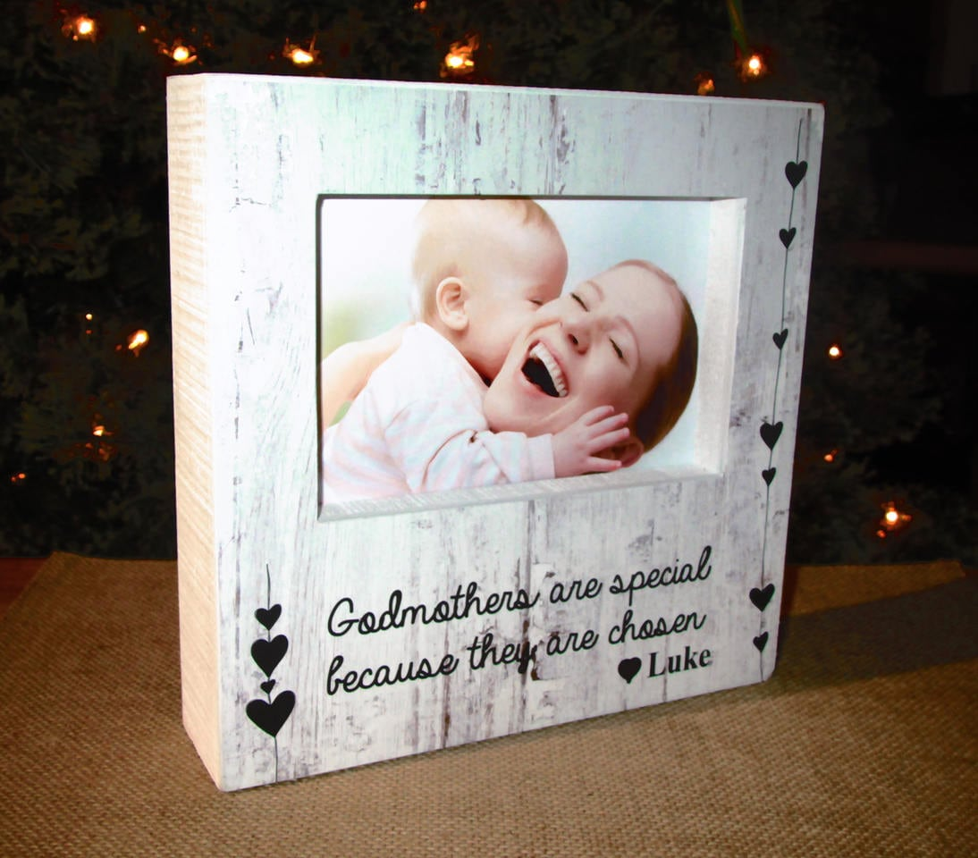 Personalized Godmother Picture Frame Sign Godmothers are