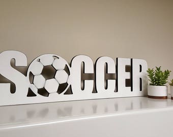 Soccer with Ball Cutout Sign