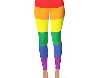 Gay Pride Leggings, LGBT Clothing, LGBT Pride, LGBTQ Pride, Lesbian Pride, Gay Pride Leggings, Lesbian, Gay Pride, Cut And Sew Leggings