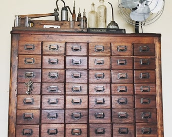 Antique / Industrial /Farmhouse /Apothecary Cabinet Restored SPRING SALE