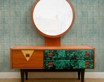 Mid century teak dressing table