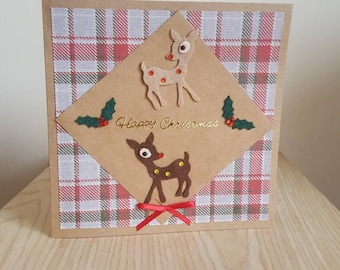 Heritage Reindeer Christmas card