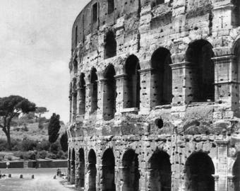 Rome Italy Vintage Print Italy Wall Art Italy Photography Black and White Art Vintage Print Photos for Living Room Rome Art