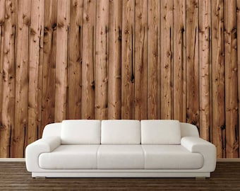 Wooden Wall Mural, Rustic Wall Mural, Wallpaper Wood, Wooden Wall Decal, Self Adhesive Vinyl