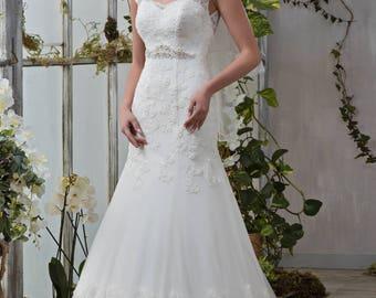 Wedding dress wedding dresses wedding dress BELLA beads beads ivory meerjungrau mermaid dress