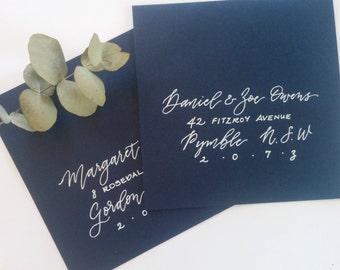Hand written envelopes / custom calligraphy - modern script