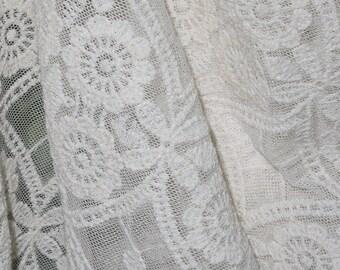 "Cream Lace Fabric - 50"" Wide - 3 Yard (FLL10)"