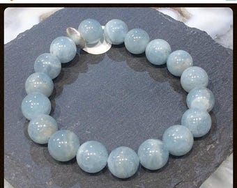 50% Mega Sale Blue Aquamarine Gemstone Bracelet