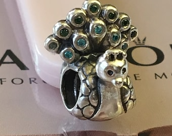 c1e220f88 ... purchase authentic pandora peacock charm retired pandora charm green  cubic zirconia 7cefd c4990