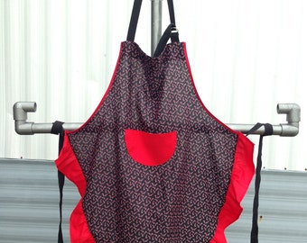 Black and Red Candy Cane Apron